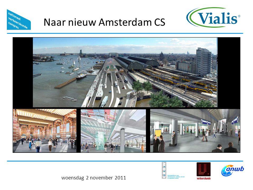 Naar nieuw Amsterdam CS woensdag 2 november 2011