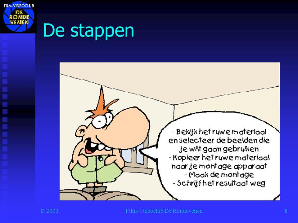 © 2003Film- videoclub De Rondevenen9 Spotten Elk verhaal dat je wilt vertellen heeft een kop, en een staart.
