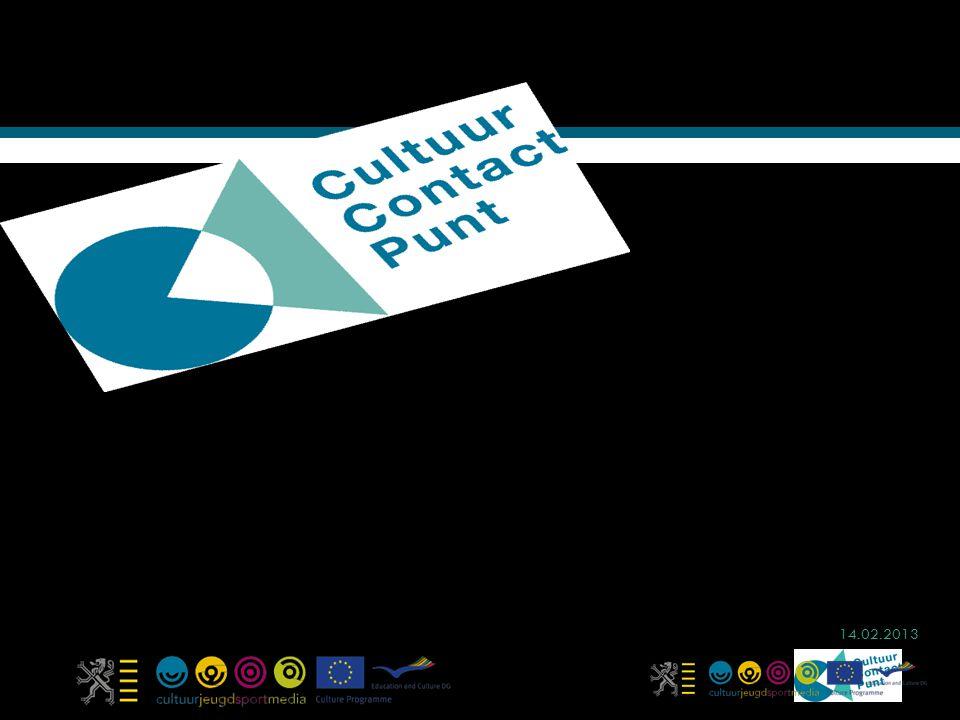 Steun voor cultuur in Europa VOBK 3 mei 2013 Gudrun Heymans CultuurContactpunt Vlaanderen www.vlaanderen.be/ccp 14.02.2013
