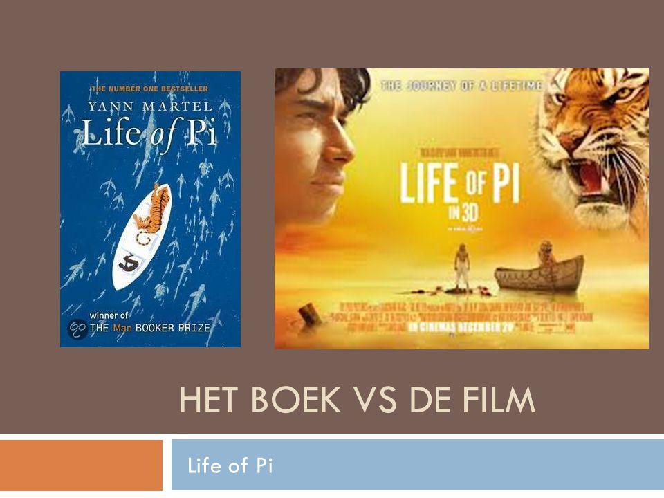 HET BOEK VS DE FILM Life of Pi