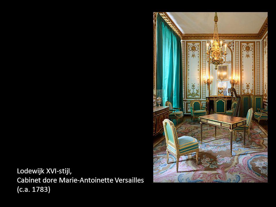 Lodewijk XVI-stijl, Cabinet dore Marie-Antoinette Versailles (c.a. 1783)