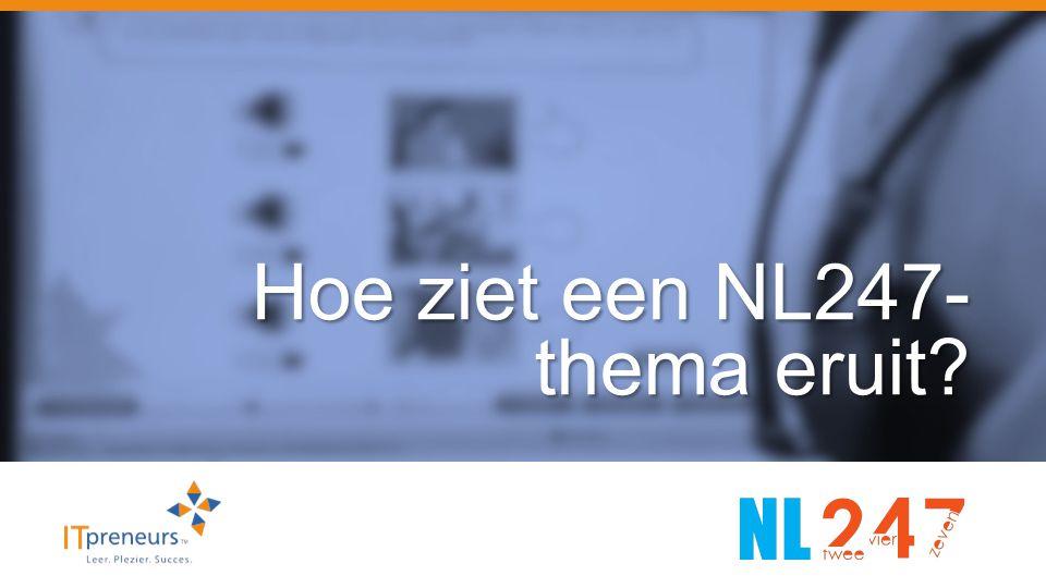 Hoe ziet een NL247- thema eruit?