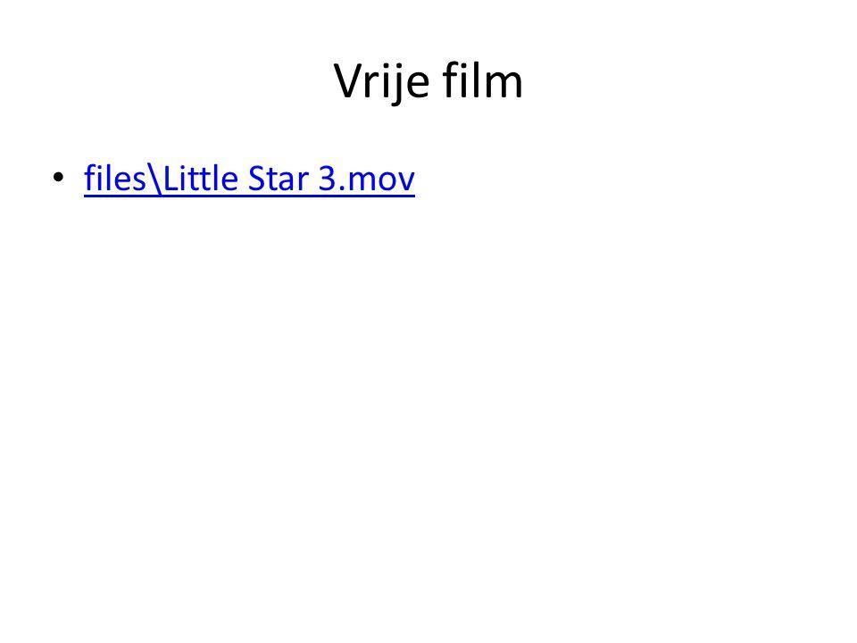 Vrije film • files\Little Star 3.mov files\Little Star 3.mov