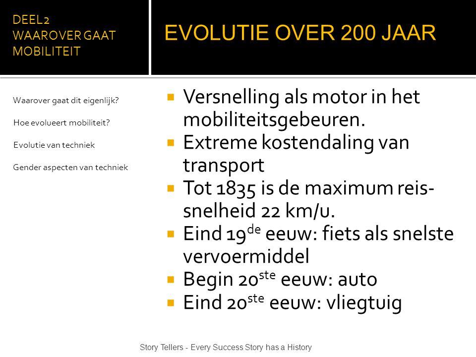 DEEL2 WAAROVER GAAT MOBILITEIT  Versnelling als motor in het mobiliteitsgebeuren.