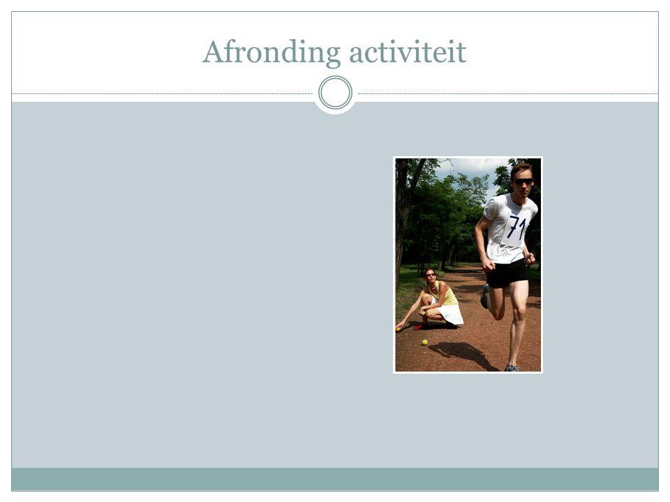 Afronding activiteit