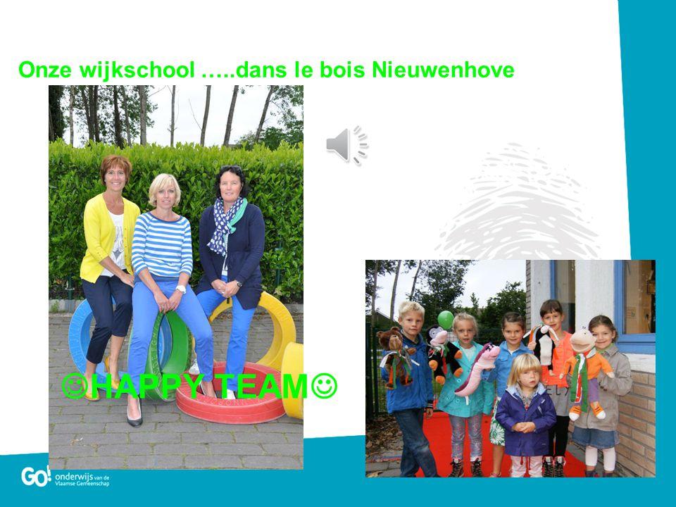  HAPPY TEAM  Onze wijkschool …..dans le bois Nieuwenhove