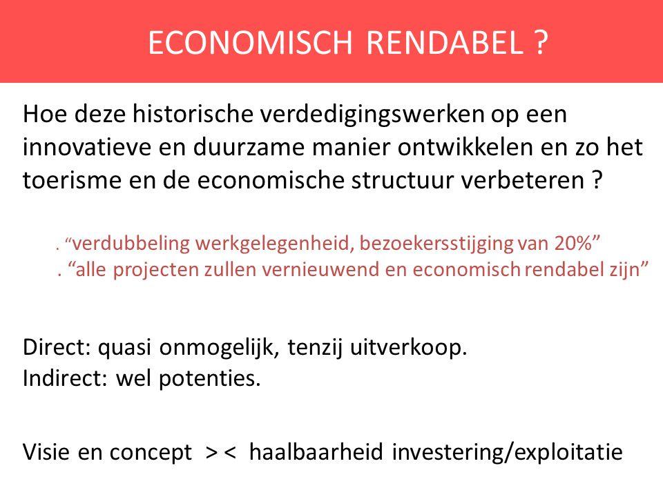 ECONOMISCH RENDABEL ? Hoe deze historische verdedigingswerken op een innovatieve en duurzame manier ontwikkelen en zo het toerisme en de economische s