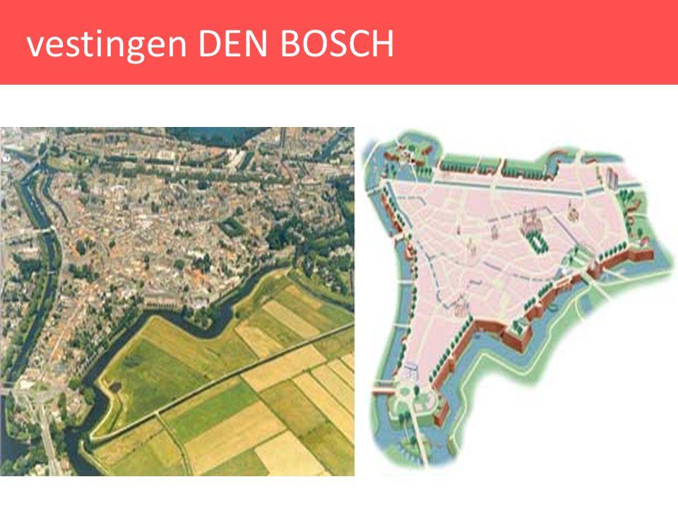 westelijke stadsentree DEN BOSCH Kadert in ontwikkelingsplan 'versterkt Den Bosch' dat vanuit een integrale benadering de vorm en betekenis van de vestingwerken voor de stad wil versterken met oog op: - behoud en ontsluiting historisch erfgoed - benadrukking cultureel-historische waarde - verbeteren kwaliteit publieke ruimte - versterking natuur- en ecologische waarden - maximaal verknopen bij andere stedelijke ontwikkelingen - versterking toeristische infrastructuur + productontwikkeling - ruimte scheppen voor vernieuwende architectuur - stimuleren exploitatie en bedrijfsmatige ontwikkelingen Westelijke stadsentree - westelijke stadsentree opnieuw zichtbaar maken en inzetten om entree binnenstad te versterken - toeristisch infocentrum restauratie + relatie stad-omgeving - audiovisuele presentatie