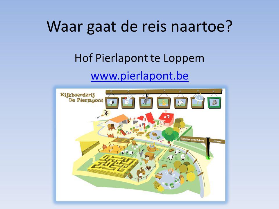 Waar gaat de reis naartoe Hof Pierlapont te Loppem www.pierlapont.be
