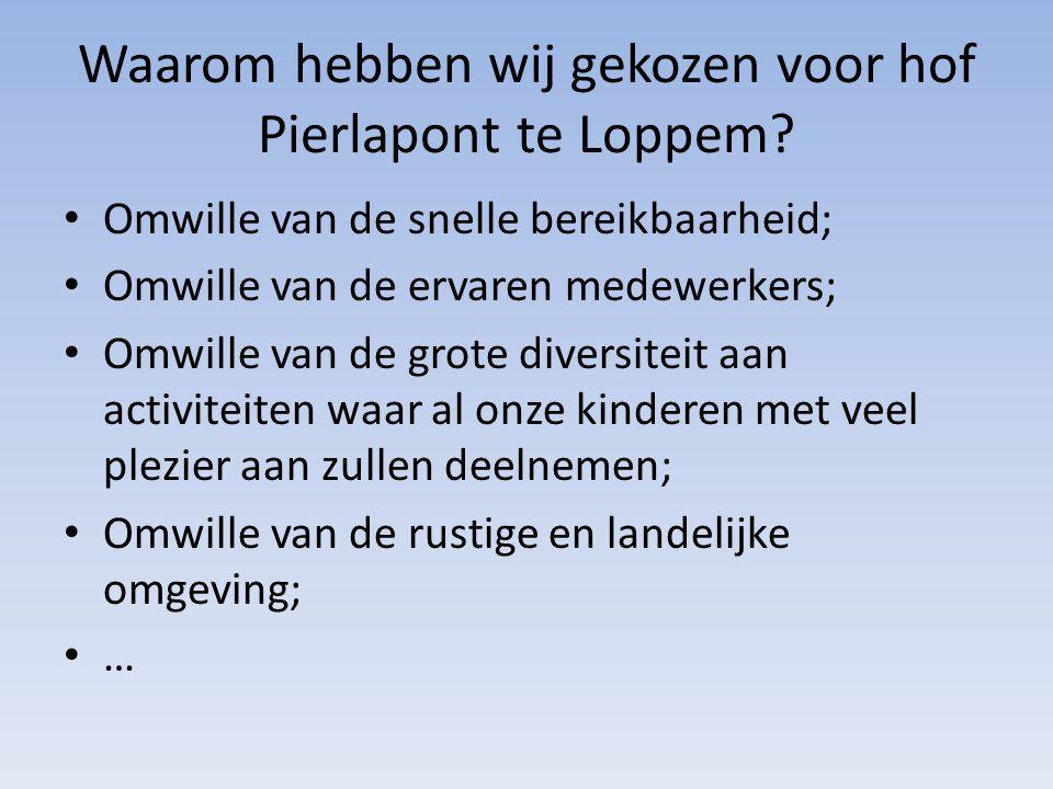 Waarom hebben wij gekozen voor hof Pierlapont te Loppem.