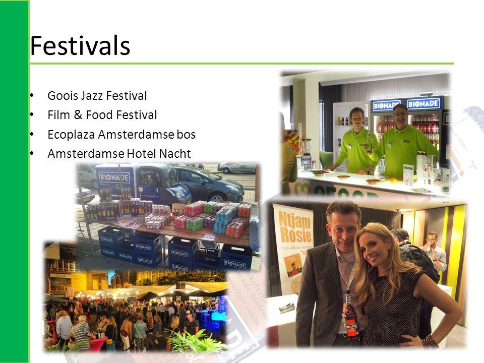 Festivals • Goois Jazz Festival • Film & Food Festival • Ecoplaza Amsterdamse bos • Amsterdamse Hotel Nacht