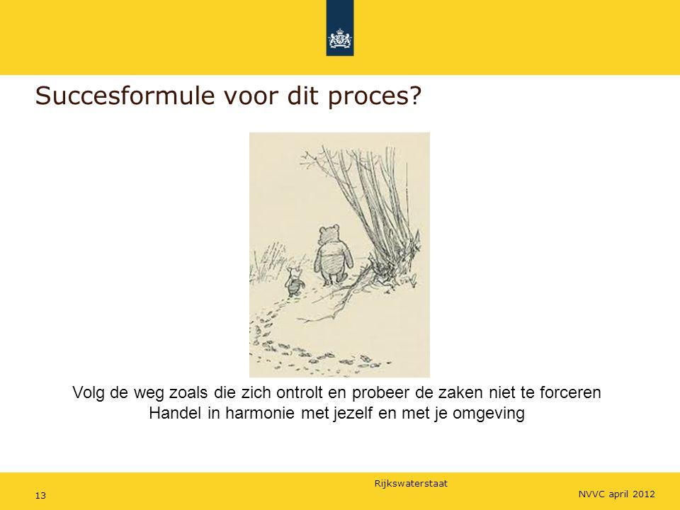 Rijkswaterstaat 13 Succesformule voor dit proces.