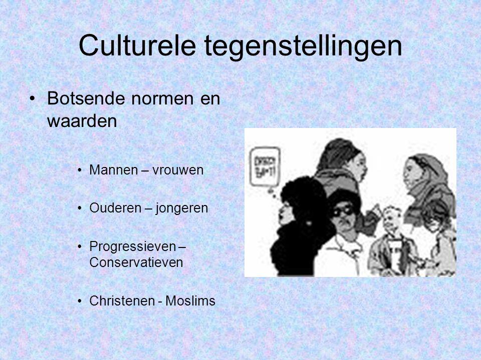 Culturele tegenstellingen •Botsende grondrechten: –Art.
