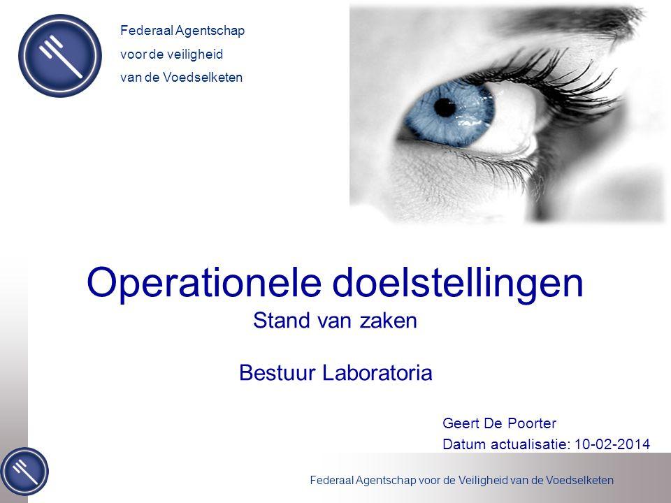 Federaal Agentschap voor de Veiligheid van de Voedselketen 22 DOEL: Verhogen van de efficiëntie van de dispatchingcentra.