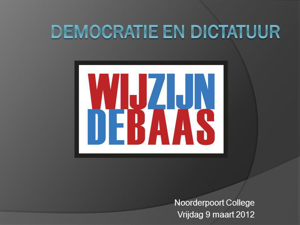 Noorderpoort College Vrijdag 9 maart 2012