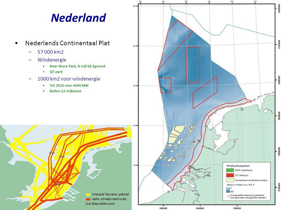 •On-shore windenergie in Nederland –Ruwe schatting •Oppervlakte van Nederland 41 543 km2, waarvan 33 719 km2 land •Aantal personen 16.7 miljoen, dus 2030 m2 per persoon •Dat levert –In onze favoriete eenheden is dat 4 kW/p = 4 kW * 24 h/d/p = 96 kWh/d/p •Iets meer realistisch voor on-shore –Neem aan dat we 10% van Nederland volbouwen •Dat is 1/3 van alle weilanden.