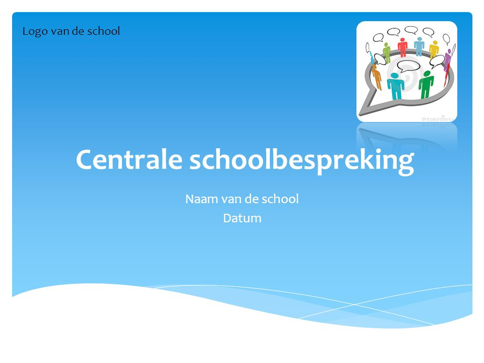 Centrale schoolbespreking Naam van de school Datum Logo van de school