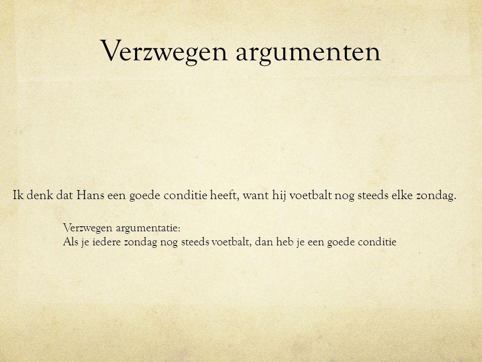 Verzwegen argumenten Verzwegen argumentatie op basis van kenmerken : Ivo is gameverslaafd.