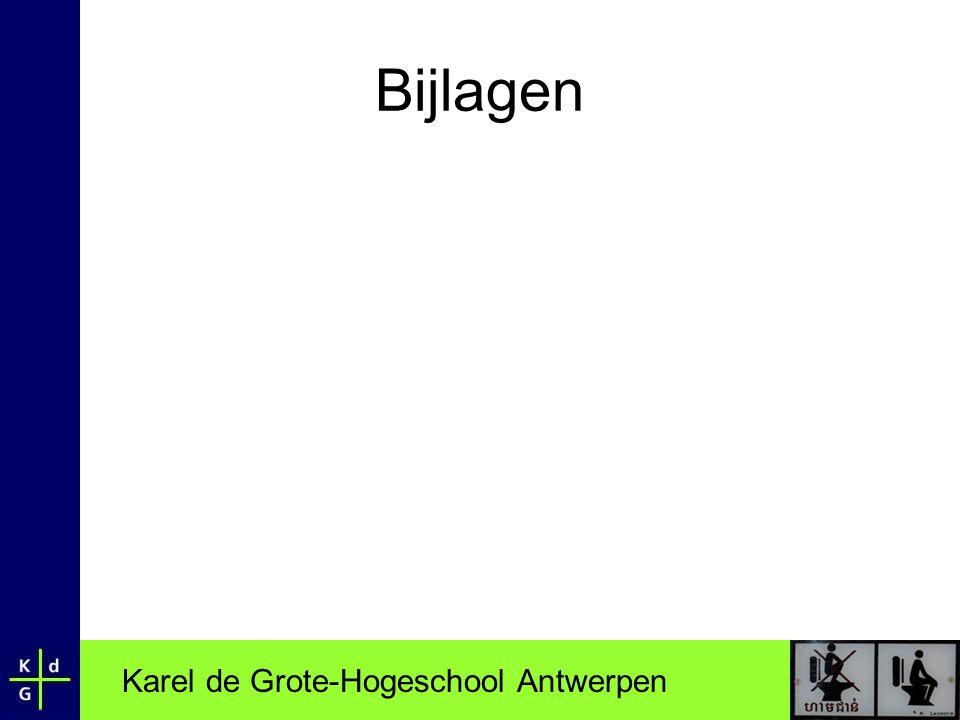 Karel de Grote-Hogeschool Antwerpen Bijlagen