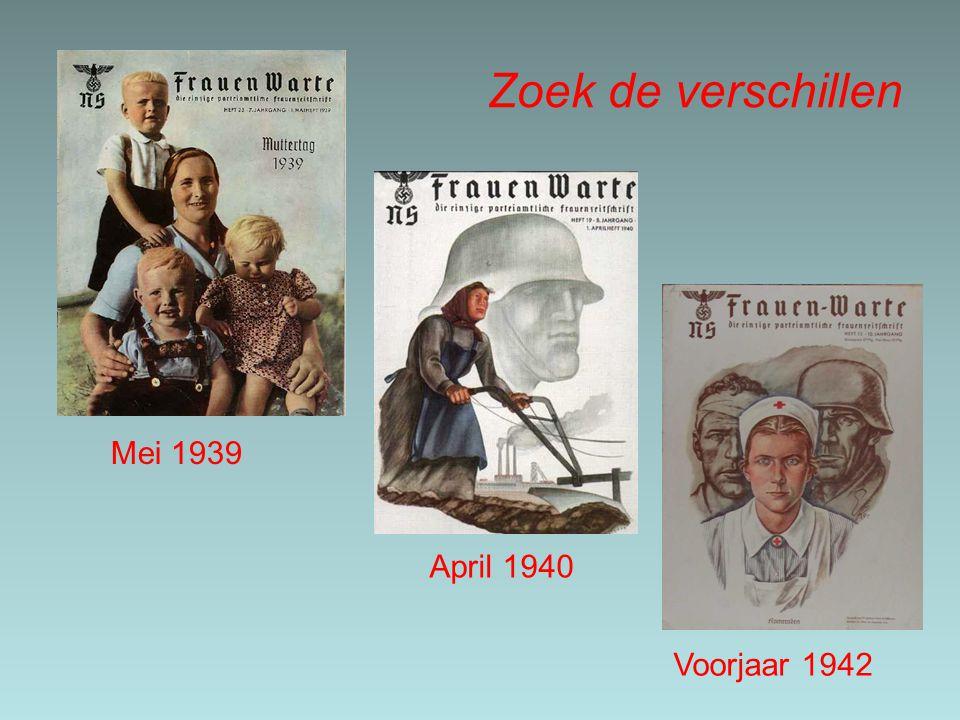 Zoek de verschillen April 1940 Voorjaar 1942 Mei 1939