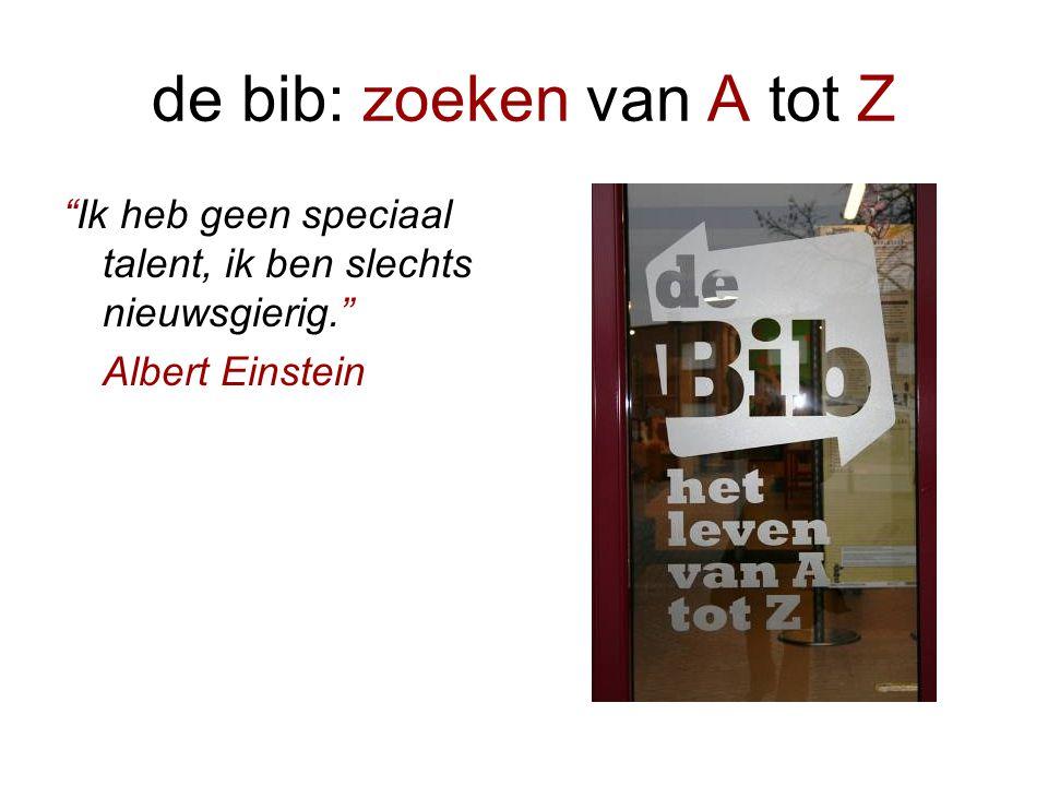 de bib: zoeken van A tot Z •Wie is Annemie Van Isterdael?