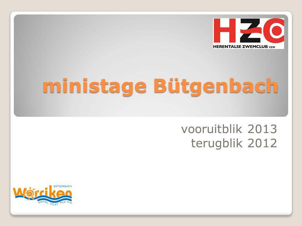 ministage Bütgenbach vooruitblik 2013 terugblik 2012