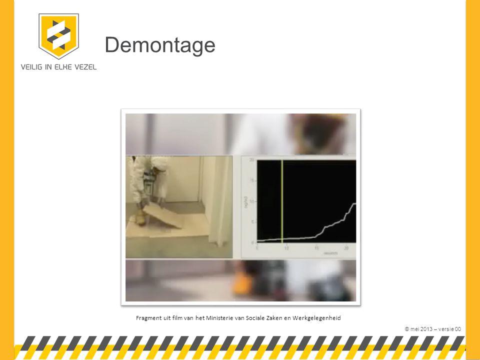 © mei 2013 – versie 00 Demontage Fragment uit film van het Ministerie van Sociale Zaken en Werkgelegenheid