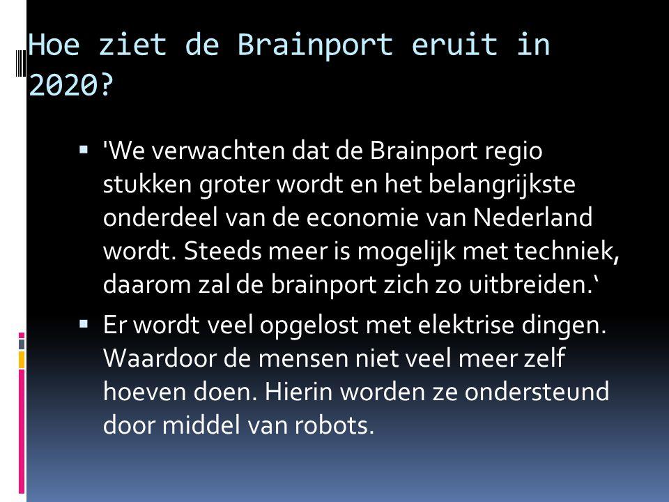 Hoe ziet de Brainport eruit in 2020?  'We verwachten dat de Brainport regio stukken groter wordt en het belangrijkste onderdeel van de economie van N
