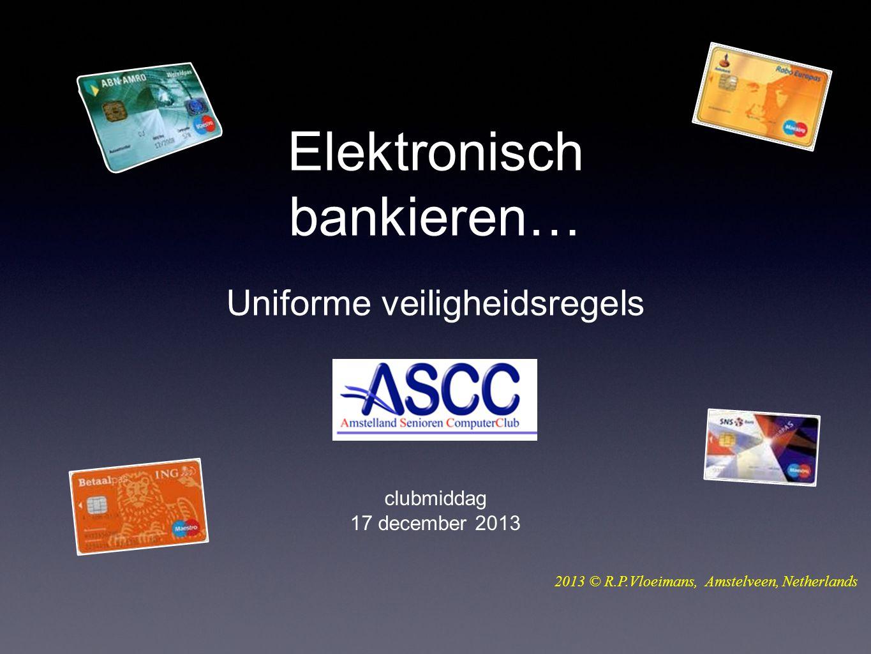 Is elektronisch bankieren veilig?