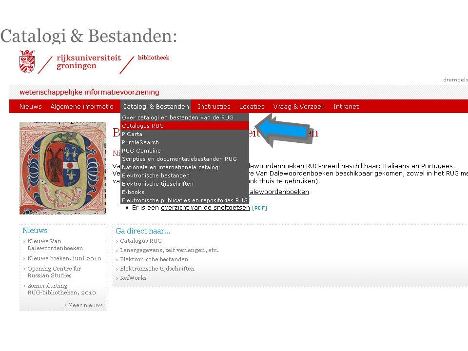 Catalogi & Bestanden: