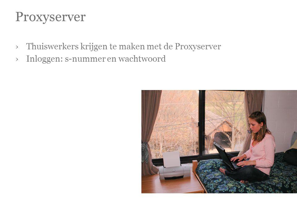 Proxyserver ›Thuiswerkers krijgen te maken met de Proxyserver ›Inloggen: s-nummer en wachtwoord