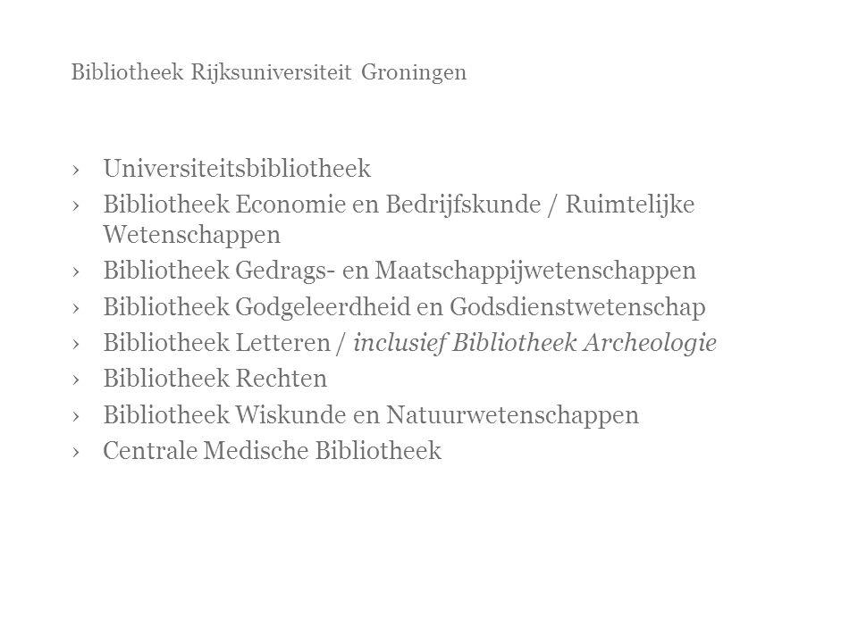 Bibliotheek Rijksuniversiteit Groningen ›Universiteitsbibliotheek ›Bibliotheek Economie en Bedrijfskunde / Ruimtelijke Wetenschappen ›Bibliotheek Gedr