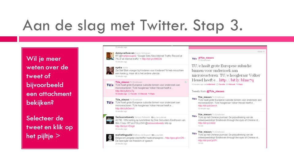 Aan de slag met Twitter. Stap 3.