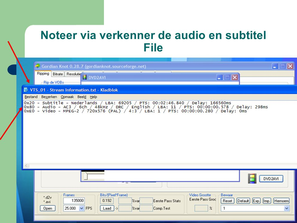 Noteer via verkenner de audio en subtitel File