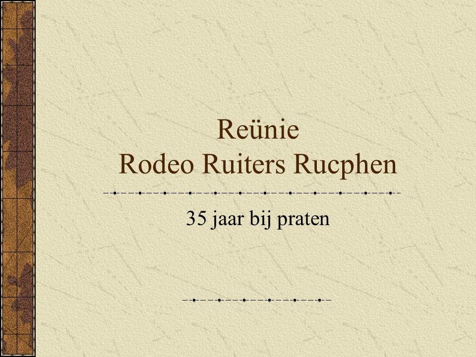 Reünie Rodeo Ruiters Rucphen 35 jaar bij praten