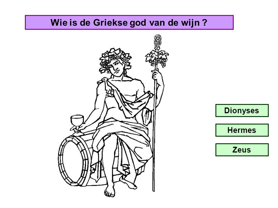 Wie is de Romeinse god van de wijn ? Bacchus Cupido Vulcanus