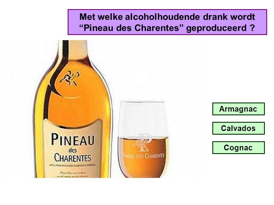 """Met welke alcoholhoudende drank wordt """"Floc de Gascogne"""" geproduceerd ? Armagnac Calvados Cognac"""