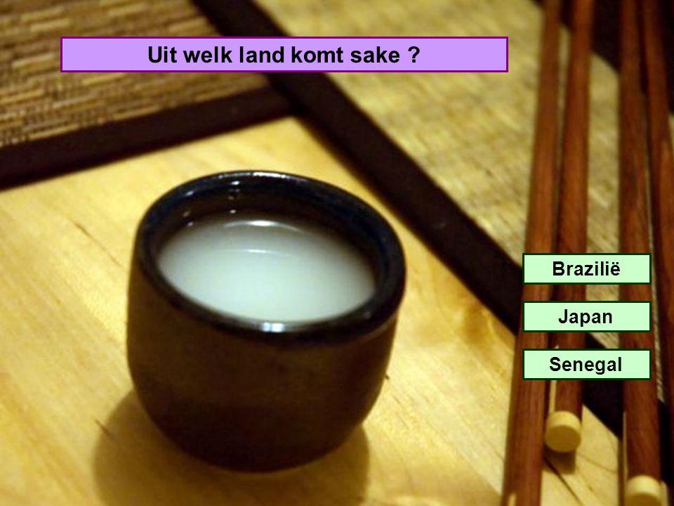 Uit welk land komt sake ? Brazilië Japan Senegal