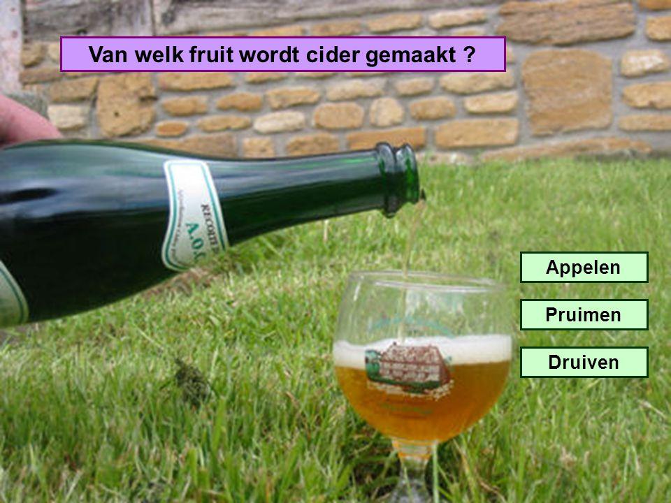Van welk fruit wordt cider gemaakt ? Appelen Pruimen Druiven