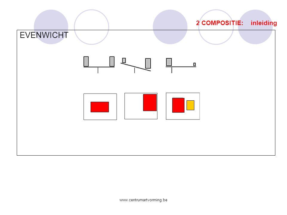 www.centrumartvorming.be Uitbreiding: De beeld- en vormaspecten  Licht, kleur, ruimte en vorm met afgeleiden  Vb.