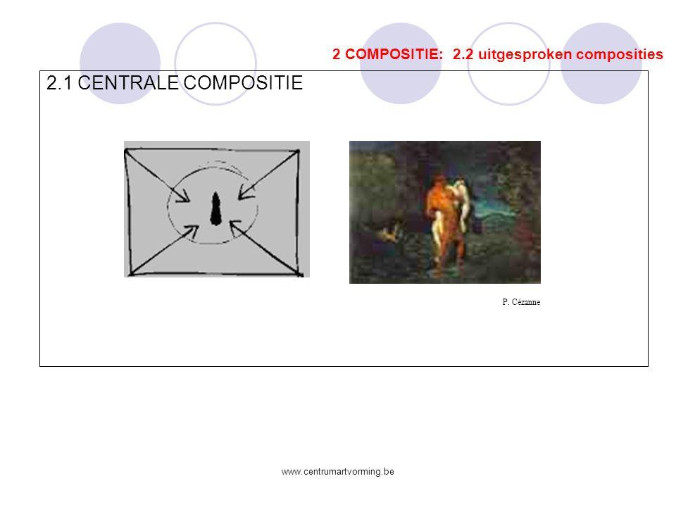 www.centrumartvorming.be 1.4 ORGANISCH EN GEOMETRISCH 2 COMPOSITIE: 2. 1 compositorische begrippen