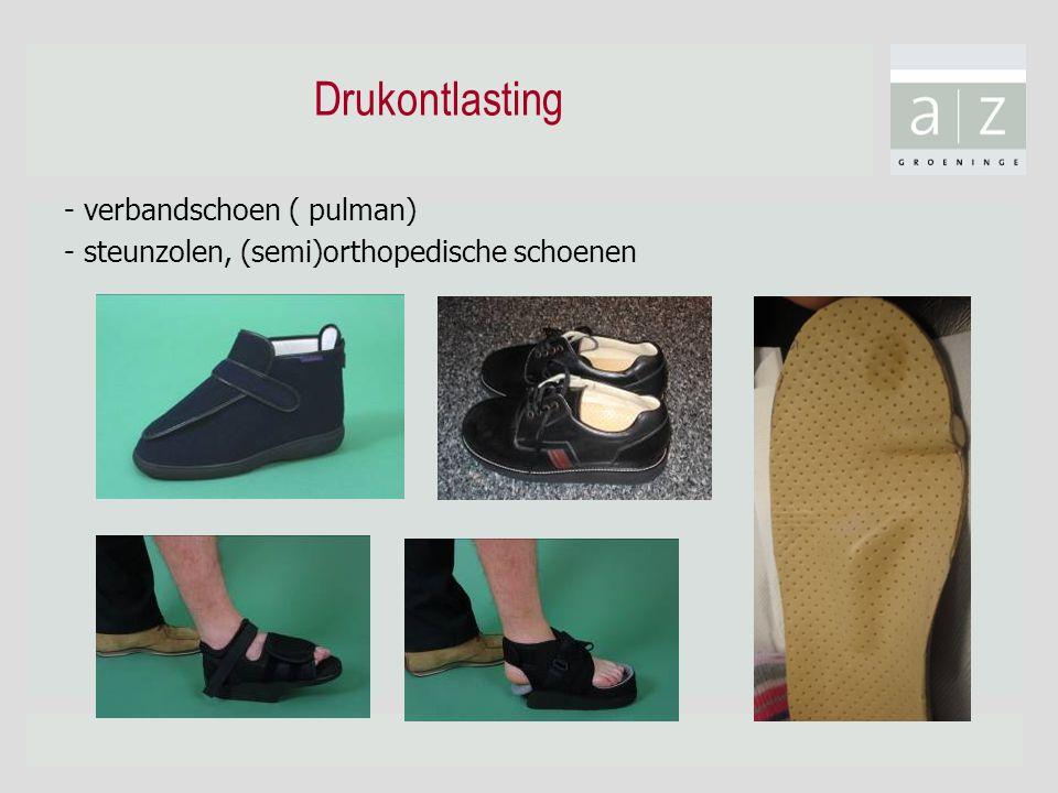 Drukontlasting - verbandschoen ( pulman) - steunzolen, (semi)orthopedische schoenen