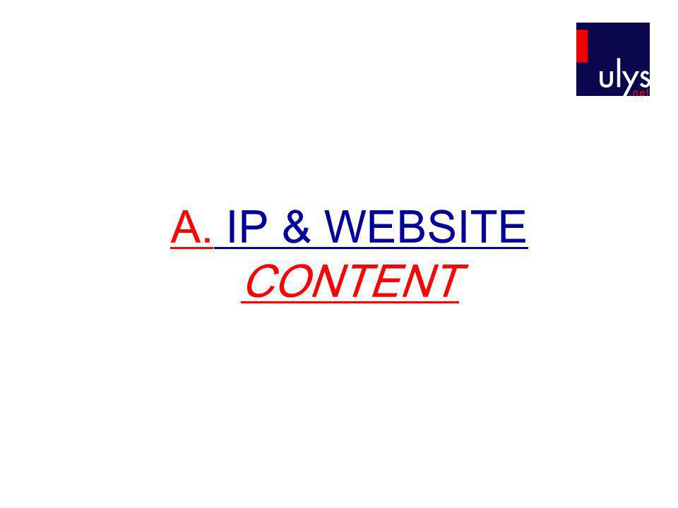 A. IP & WEBSITE CONTENT