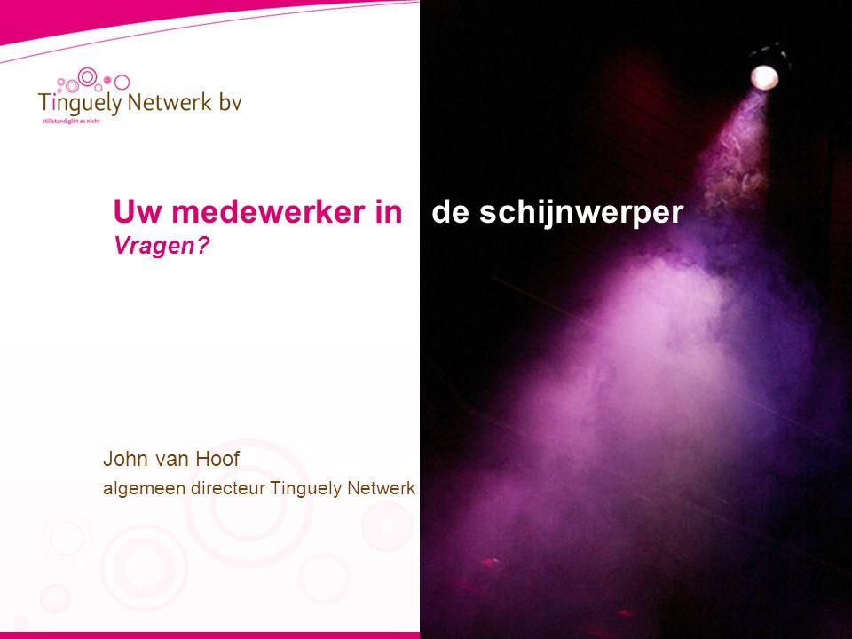 Uw medewerker in de schijnwerper Vragen John van Hoof algemeen directeur Tinguely Netwerk