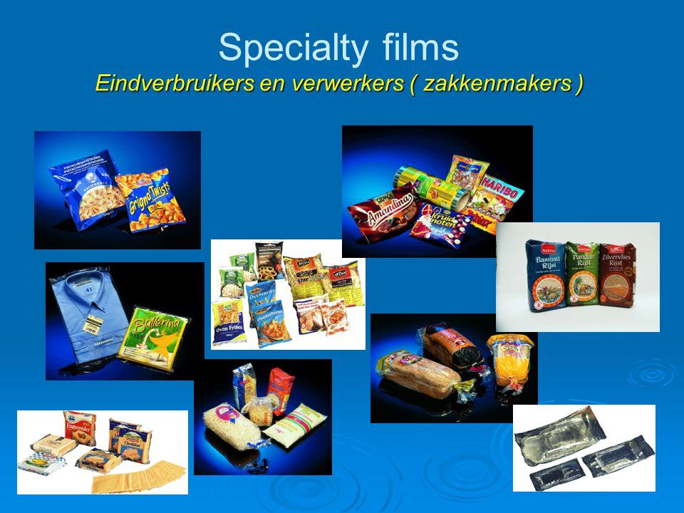Specialty films Eindverbruikers en verwerkers ( zakkenmakers )
