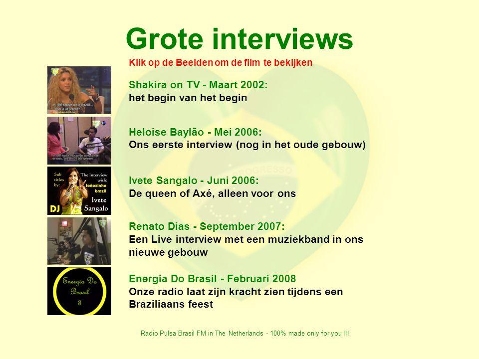 Radio Pulsa Brasil FM in The Netherlands - 100% made only for you !!! Zijn (of waren) onze partners