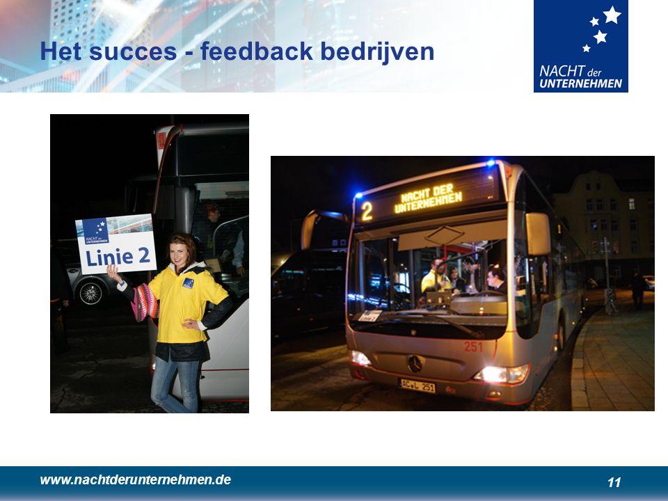 www.nachtderunternehmen.de 11 Het succes - feedback bedrijven