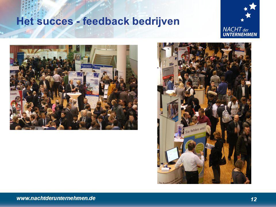 www.nachtderunternehmen.de 12 Het succes - feedback bedrijven