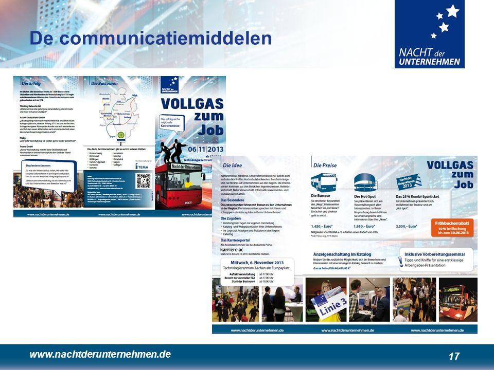 www.nachtderunternehmen.de 17 De communicatiemiddelen