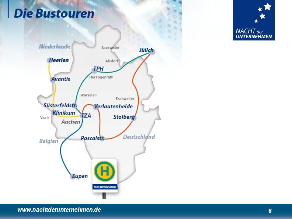 www.nachtderunternehmen.de 6 De bustour – de directe toegang